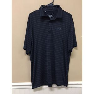 Under Armour Playoff Polo Black Golf Polo Shirt